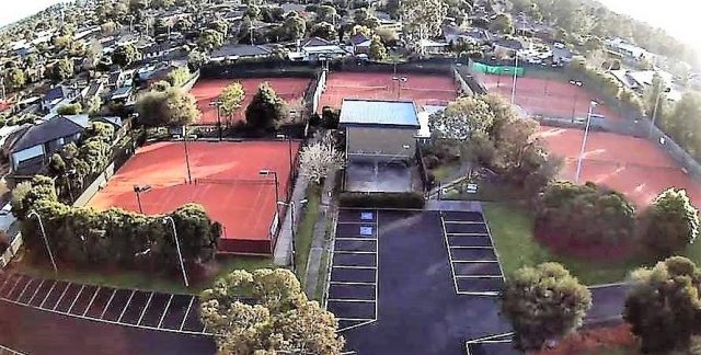 Donvale Tennis Club from above